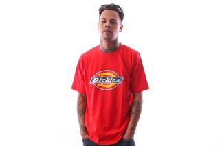 Foto van Dickies Horseshoe Tee 06 00075 T Shirt Fiery Red