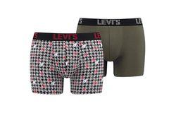 Afbeelding van Levi`S Bodywear Houndstooth Boxer Brief 2P 995037001 Boxershort Olive