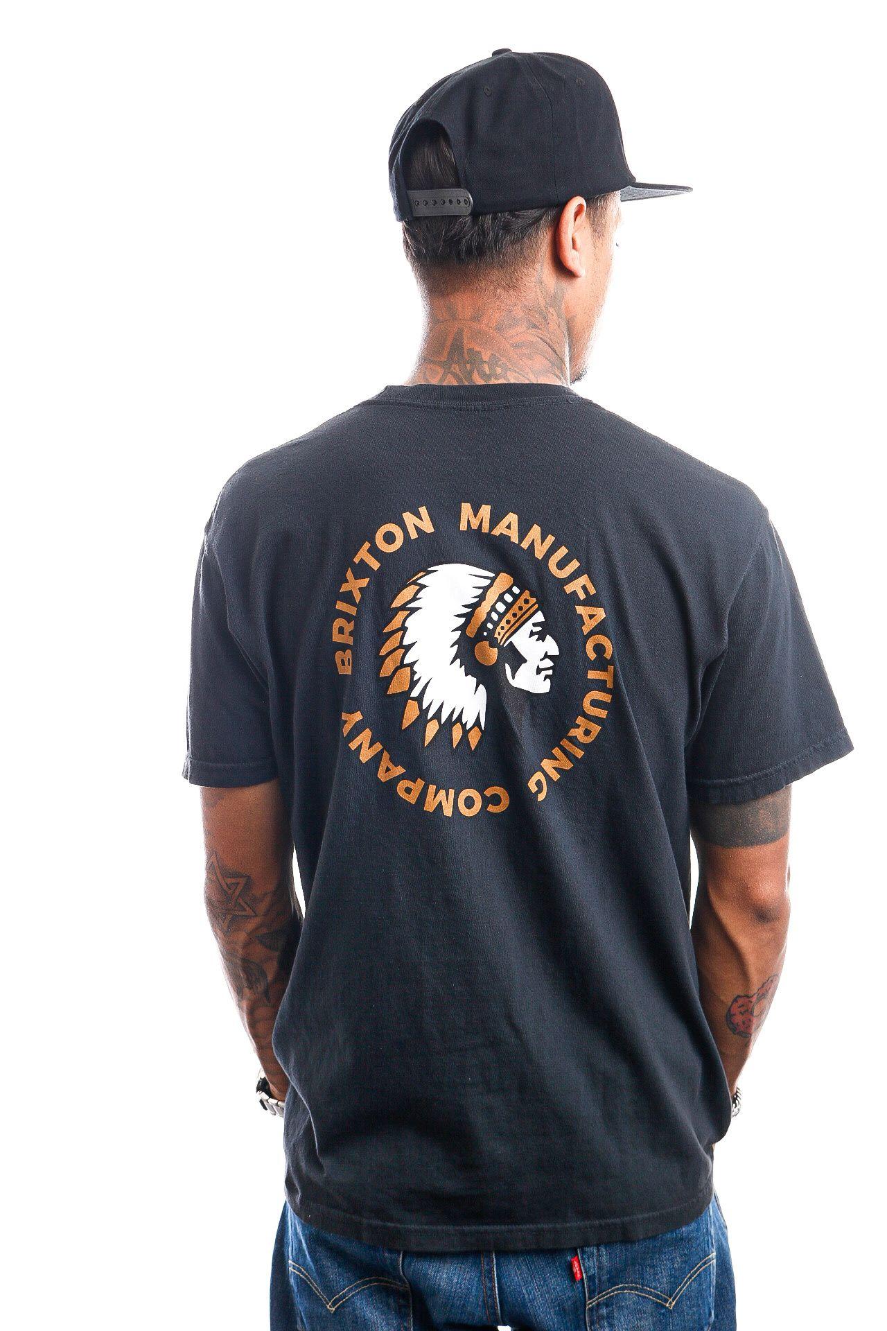 Afbeelding van Brixton T-shirt RIVAL STAMP S/S STT Black Garment Dye 16551