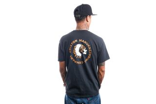 Foto van Brixton T-shirt RIVAL STAMP S/S STT Black Garment Dye 16551