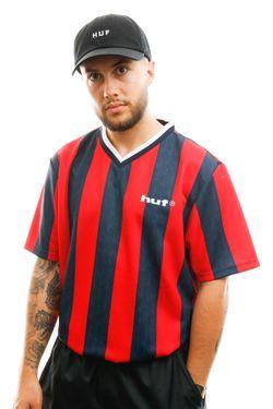 Afbeelding van HUF T-shirt Diego Soccer Jersey True Red KN00185-TRRED
