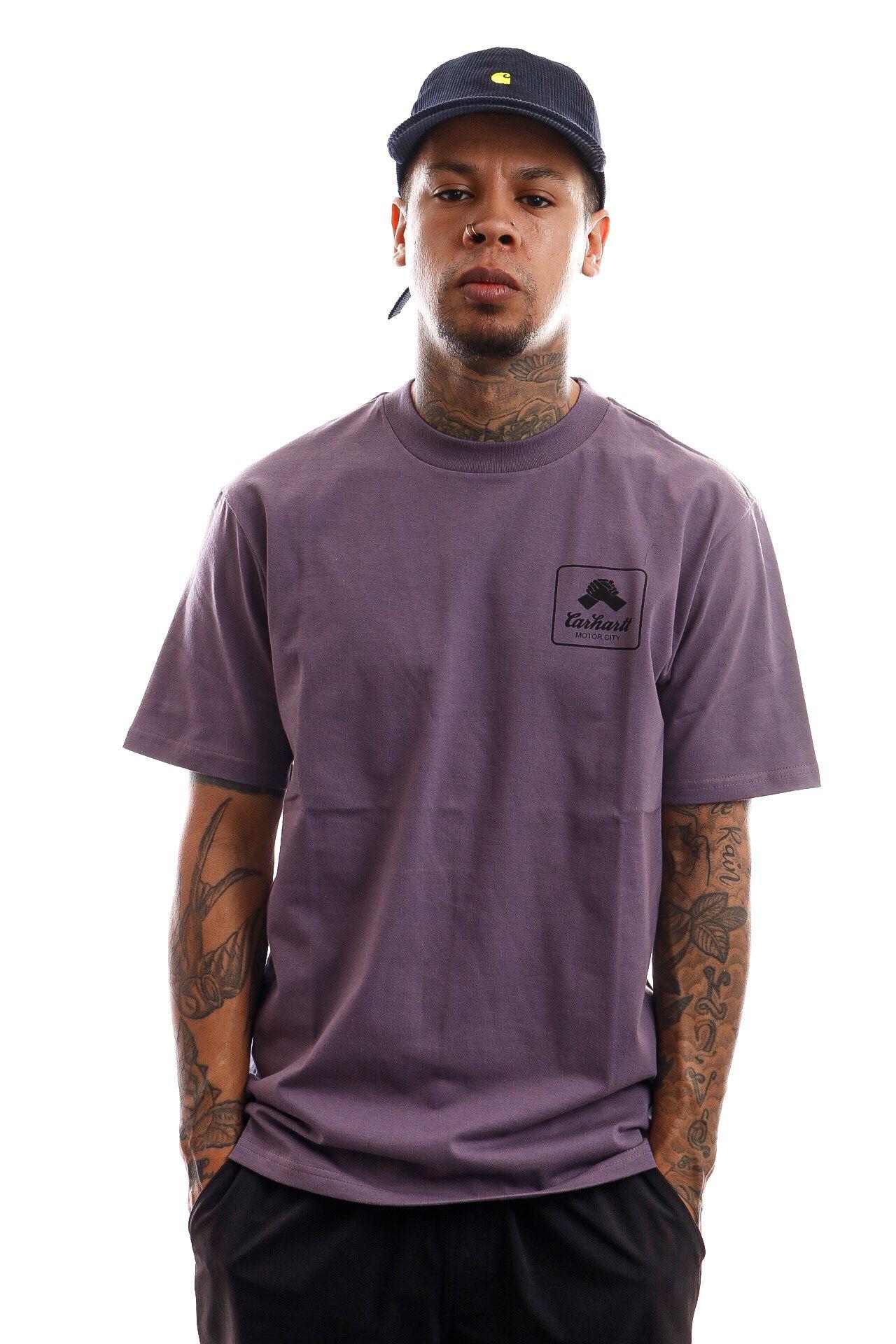 Afbeelding van Carhartt T-shirt S/S Peace State T-Shirt Provence / Black I028931