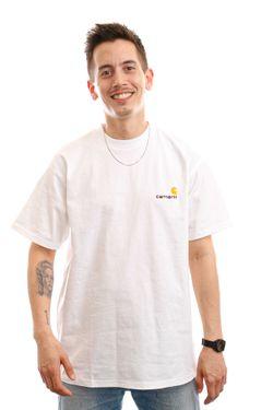 Afbeelding van Carhartt T-shirt S/S American Script T-Shirt White I029007