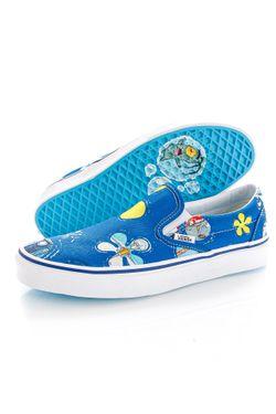 Afbeelding van Vans Sneakers UA Classic Slip-On (SpongeBob) alohaBob Ice Grey/Black VN0A33TBYZ11