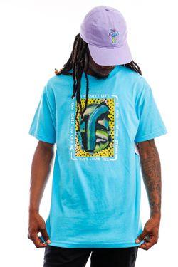 Afbeelding van The Quiet Life T-shirt Farley Tee Pacific Blue QL-21SPD2-2126