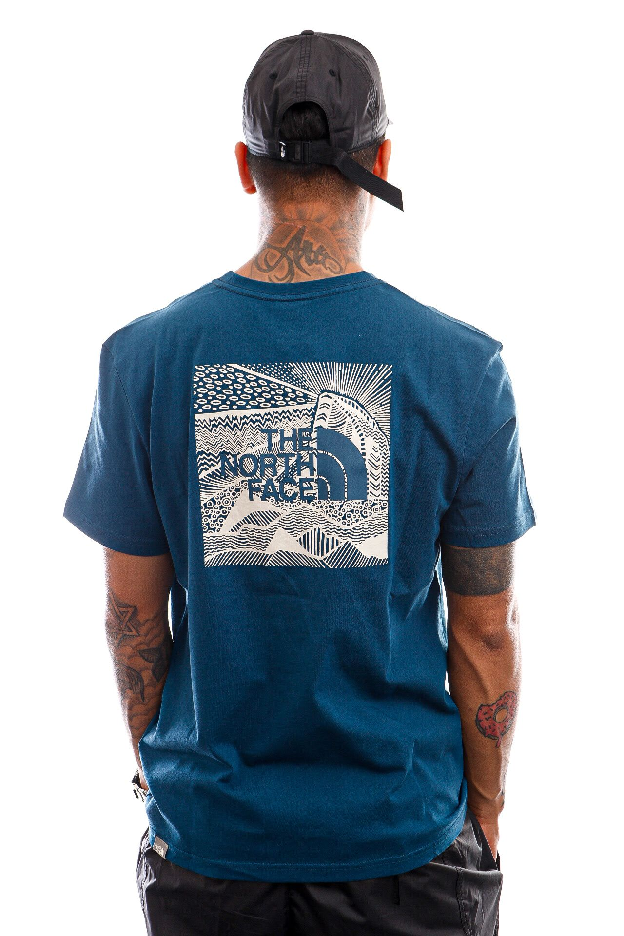 Afbeelding van The North Face T-shirt Mens S/S Redbox Celebration Tee Monterey Blue NF0A2ZXEBH71