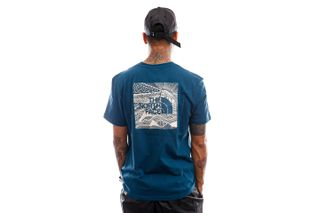 Foto van The North Face T-shirt Mens S/S Redbox Celebration Tee Monterey Blue NF0A2ZXEBH71