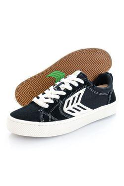Afbeelding van Cariuma Sneakers CATIBA PRO Skate Contrast Thread Ivory Logo Black Suede and Canvas 400807B12W090