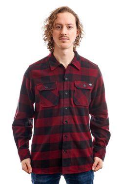 Afbeelding van Dickies Overhemd Sacramento Shirt Maroon DK0A4X8NMR01