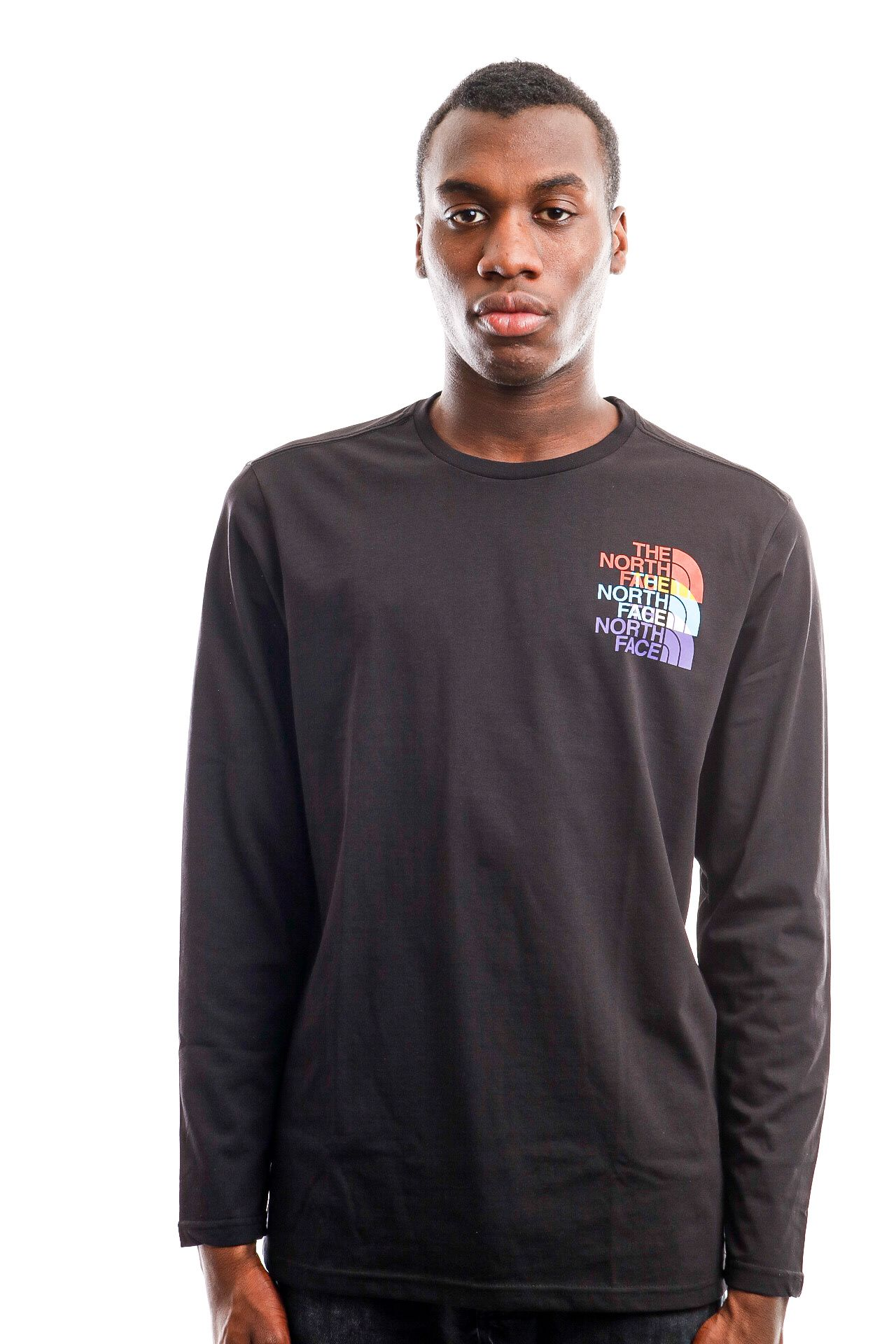Afbeelding van The North Face Long Sleeve Men's LS Rgb Prism Tee Tnf Black NF0A4SYNJK31