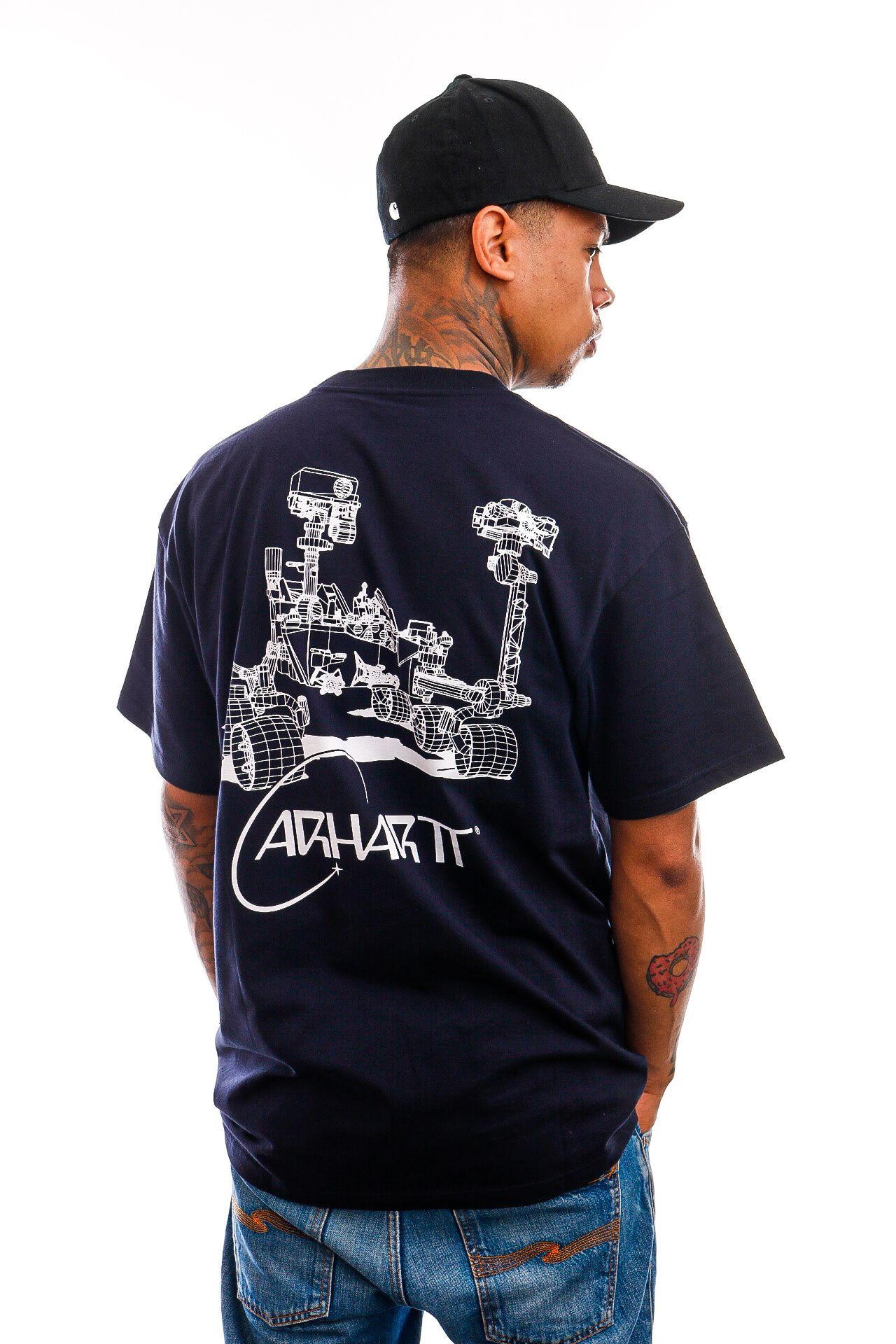 Afbeelding van Carhartt T-shirt S/S Orbit T-Shirt Dark Navy / White I029928