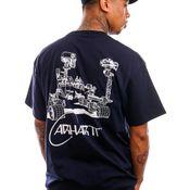 Carhartt T-shirt S/S Orbit T-Shirt Dark Navy / White I029928
