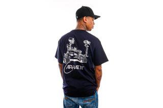 Foto van Carhartt T-shirt S/S Orbit T-Shirt Dark Navy / White I029928