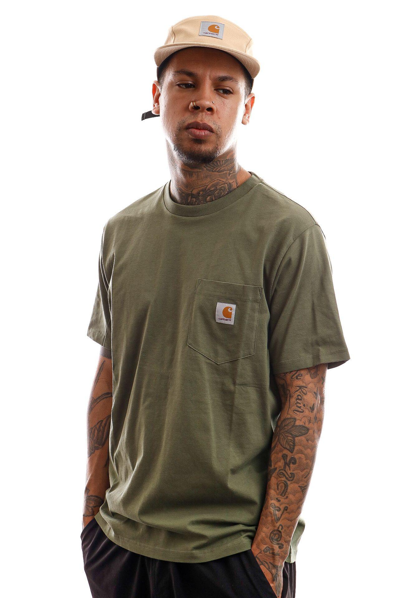 Afbeelding van Carhartt T-Shirt S/S Pocket T-Shirt Dollar Green I022091