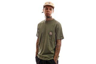 Foto van Carhartt T-Shirt S/S Pocket T-Shirt Dollar Green I022091