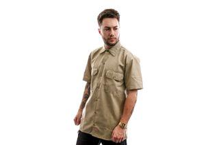 Foto van Dickies Overhemd Short Sleeve Work Shirt Khaki DK001574