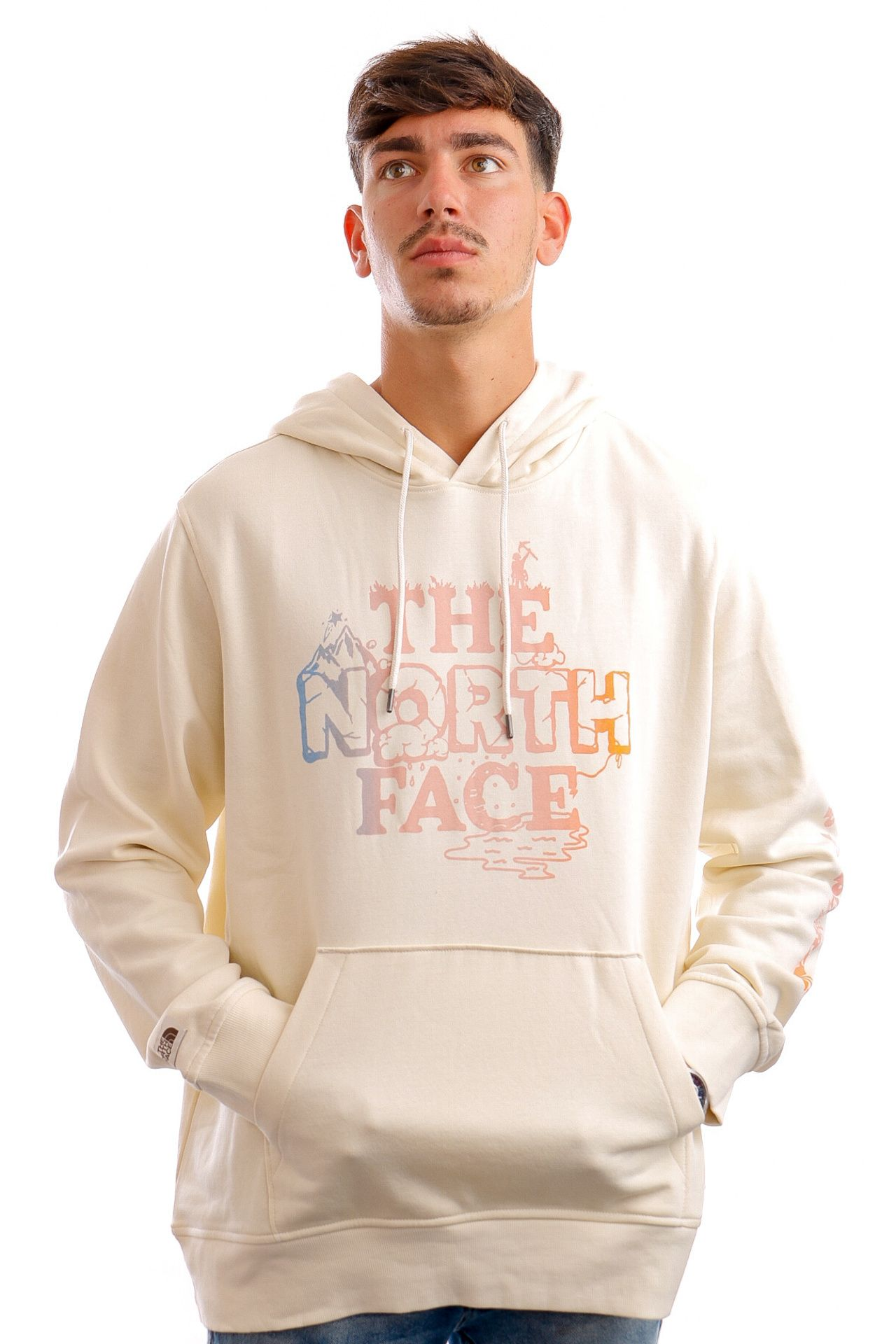 Afbeelding van The North Face Hoodie Mens Himalayan Bottle Source Po Vintage White NF0A532811P1