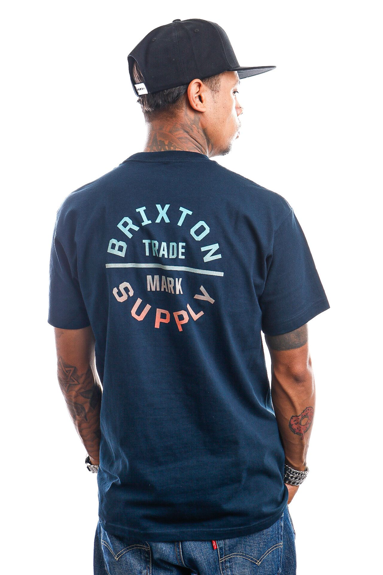 Afbeelding van Brixton T-shirt OATH V S/S STT Midnight Navy/Gradient 16410