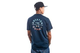 Foto van Brixton T-shirt OATH V S/S STT Midnight Navy/Gradient 16410