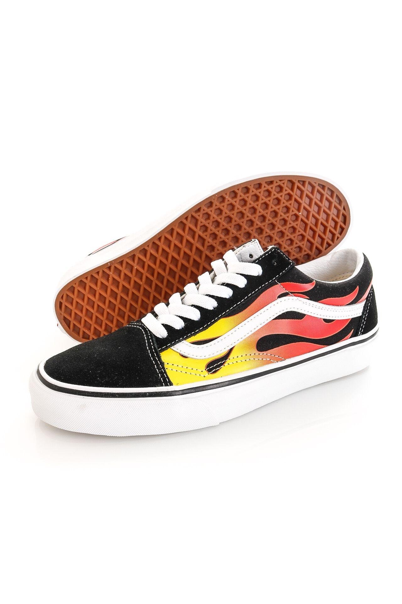 Afbeelding van Vans Sneakers UA Old Skool (FLAME) Black/Black/True White VN0A38G1PHN1