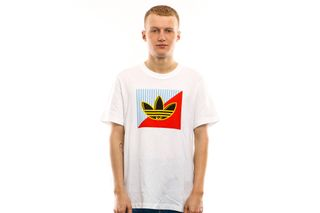 Foto van Adidas T-shirt Diagonal Logo T White FM3389