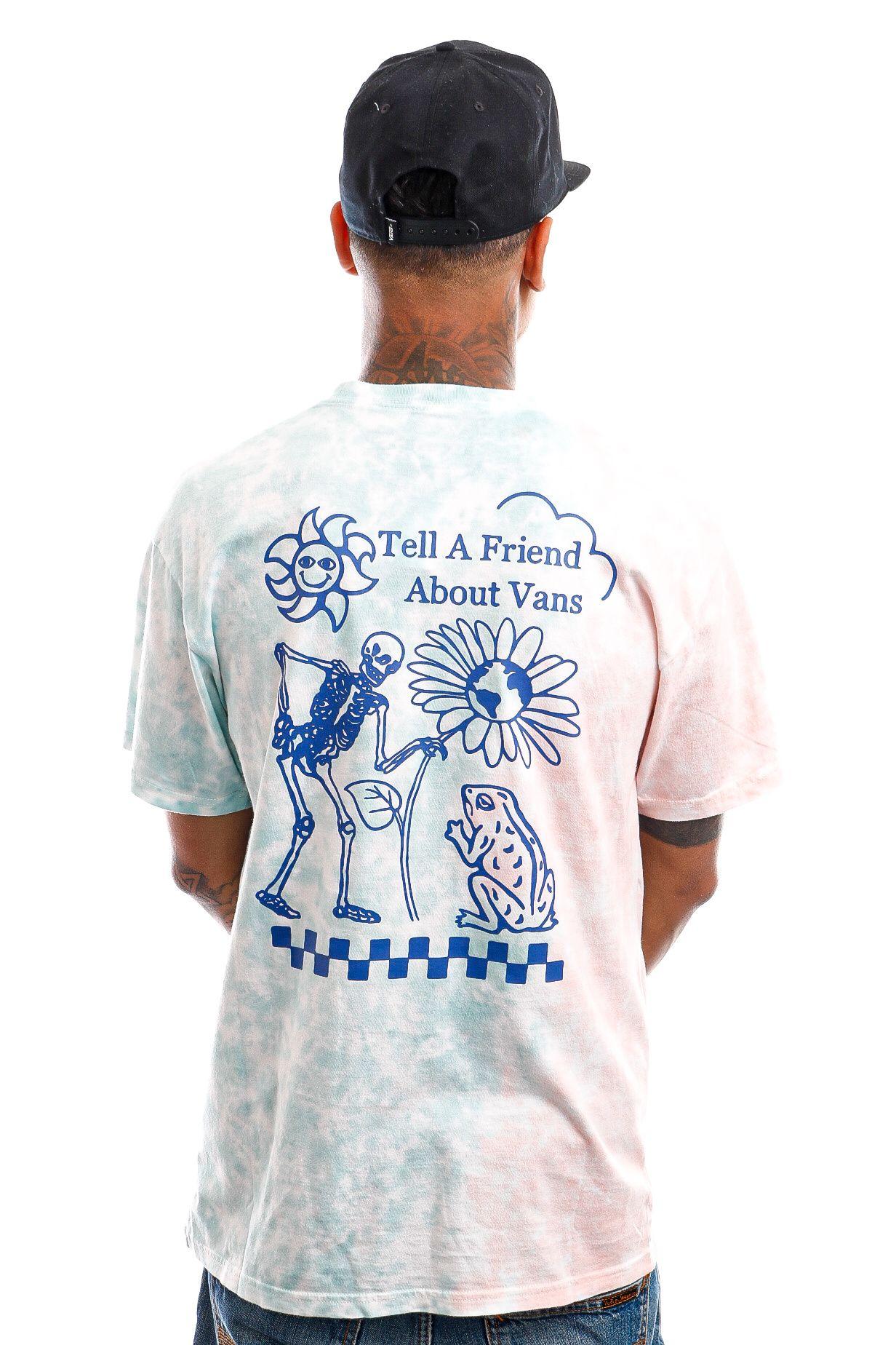 Afbeelding van Vans T-Shirt Tell a Friend Fusion Coral VN0A5E7CZD71