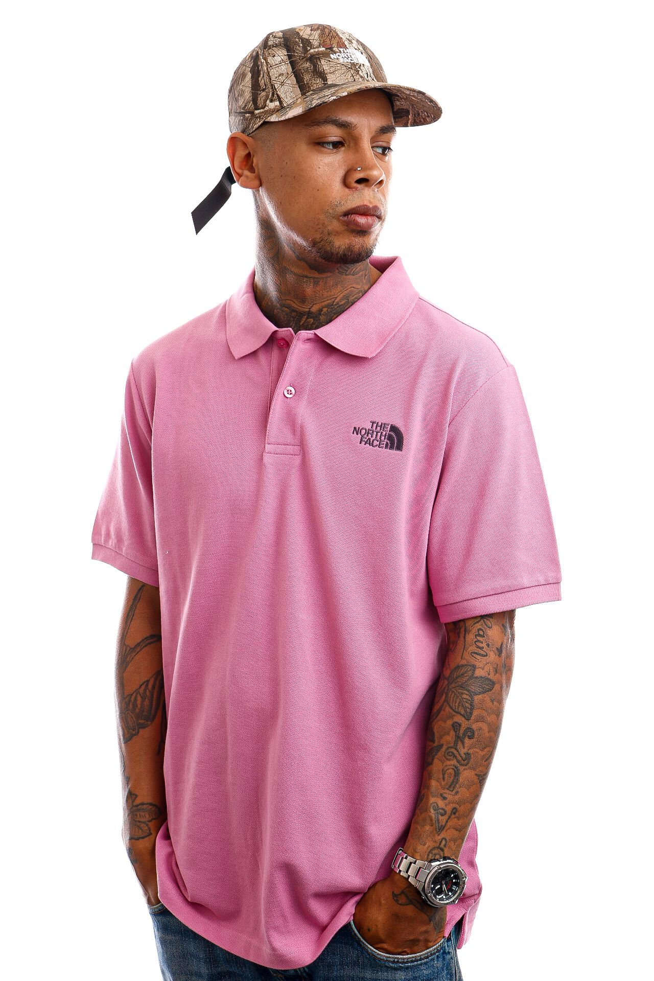Afbeelding van The North Face Polo M Polo Piquet Sunset Mauve NF00CG71Y9U