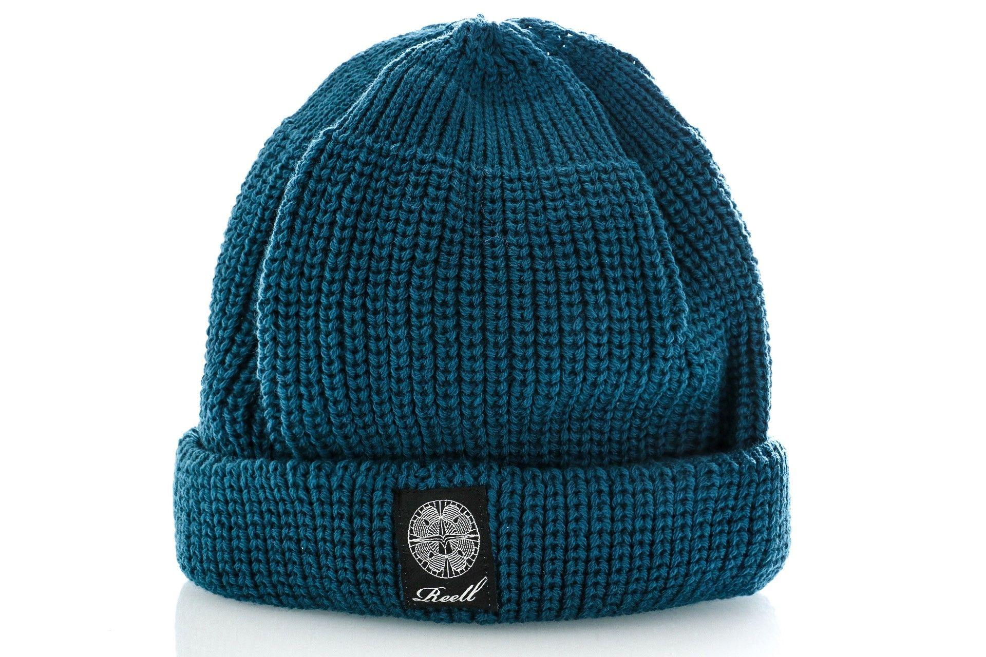 Afbeelding van Reell Muts Short Knit Beanie Petrol Blue 1404-002