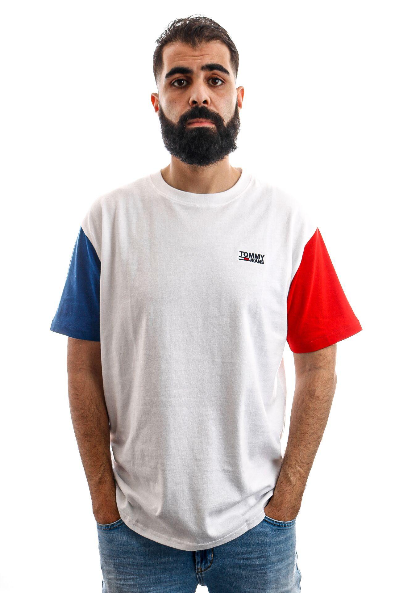 Afbeelding van Tommy Hilfiger T-shirt TJM COLOR BLOCK TEE, 100 Classic White / Multi DM0DM06075