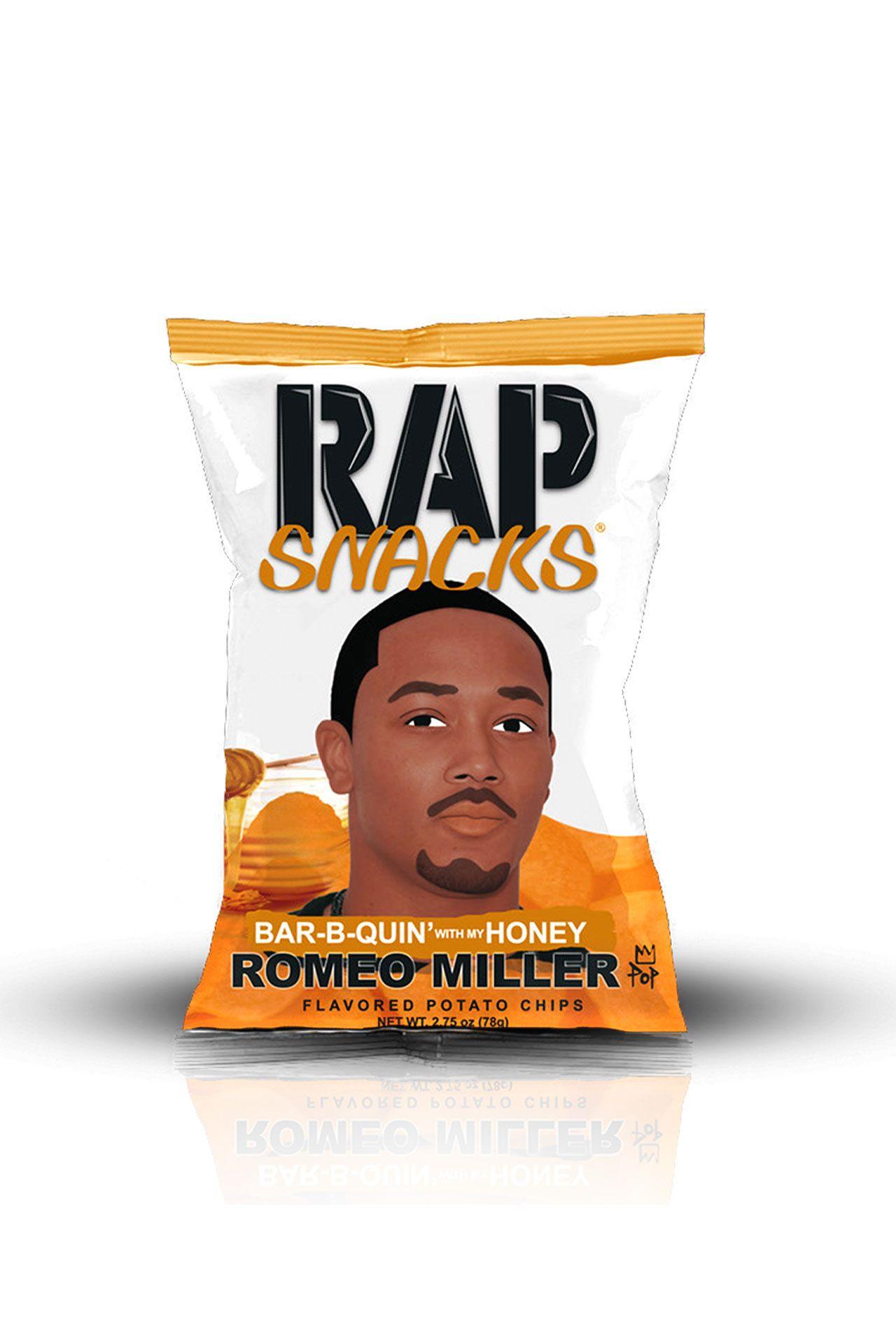 Afbeelding van Rap Snacks Bar-B-Quin´ with my Honey Romeo Miller 78 gr