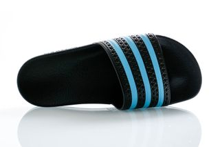 Foto van Adidas Slippers Adilette Core Black/Blue Glow/Core Black EF5503