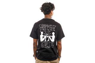 Foto van The Quiet Life T-Shirt Community Meeting T Black 21FAD1-1158