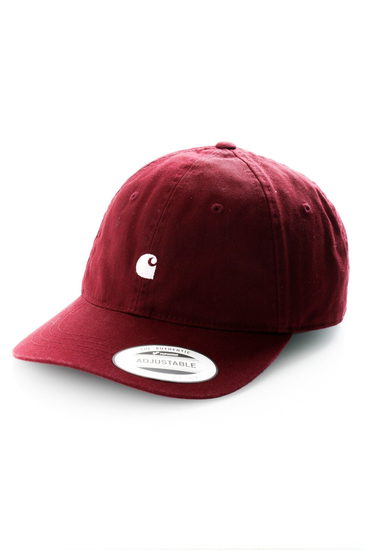 Afbeelding van Carhartt Dad Cap Madison Logo Cap Bordeaux / Wax I023750
