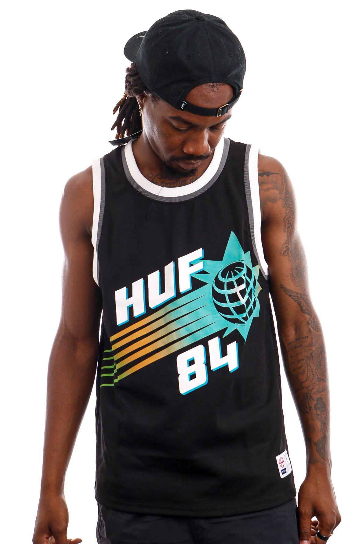 Afbeelding van HUF Tanktop HUF REBOUND BASKETBALL JERSEY Black KN00293