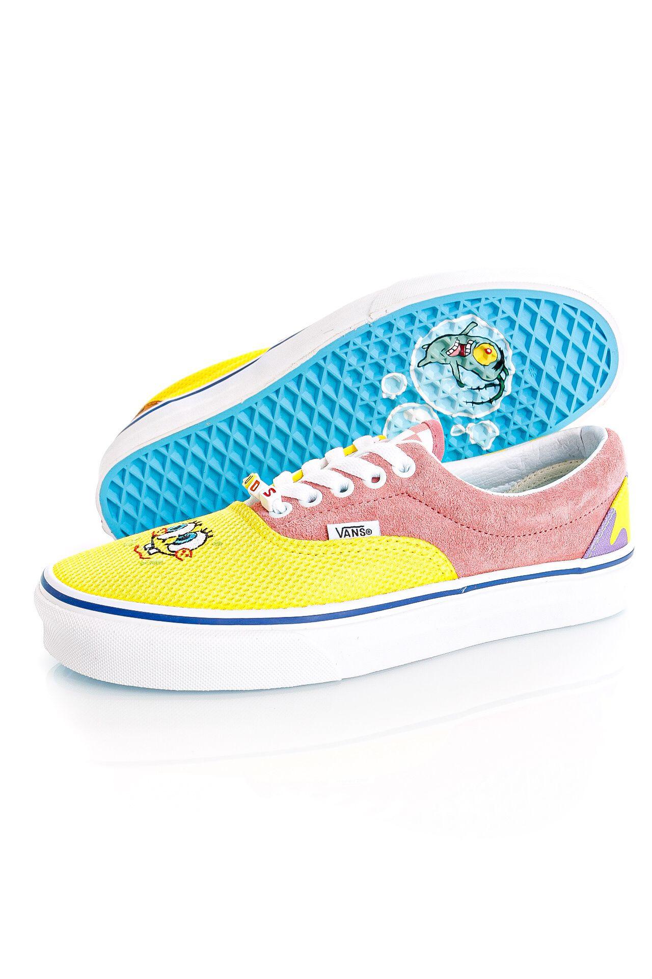 Afbeelding van Vans Sneakers UA Era (SpongeBob) Best Friends Ice Grey/Purple Menta VN0A54F19ES1