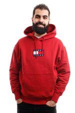 Tommy Hilfiger Hooded Tjm Small Flag Hoodi Wine Red DM0DM08726