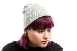 Foto van Carhartt Wip Chase Beanie I026222 Muts Grey Heather / Gold