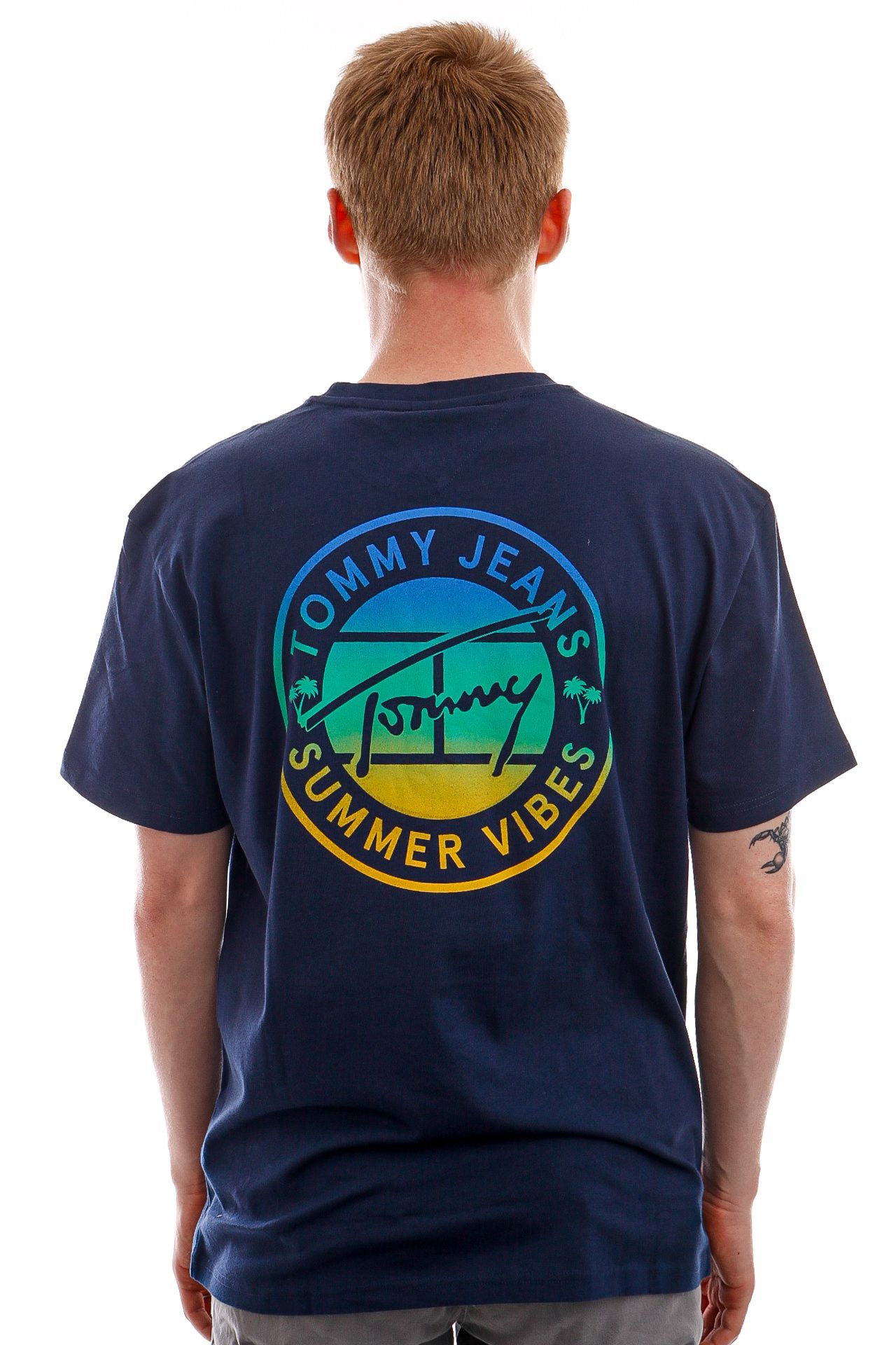 Afbeelding van Tommy Jeans T-shirt TJM CIRCULAR GRAPHIC Twilight Navy DM0DM10892