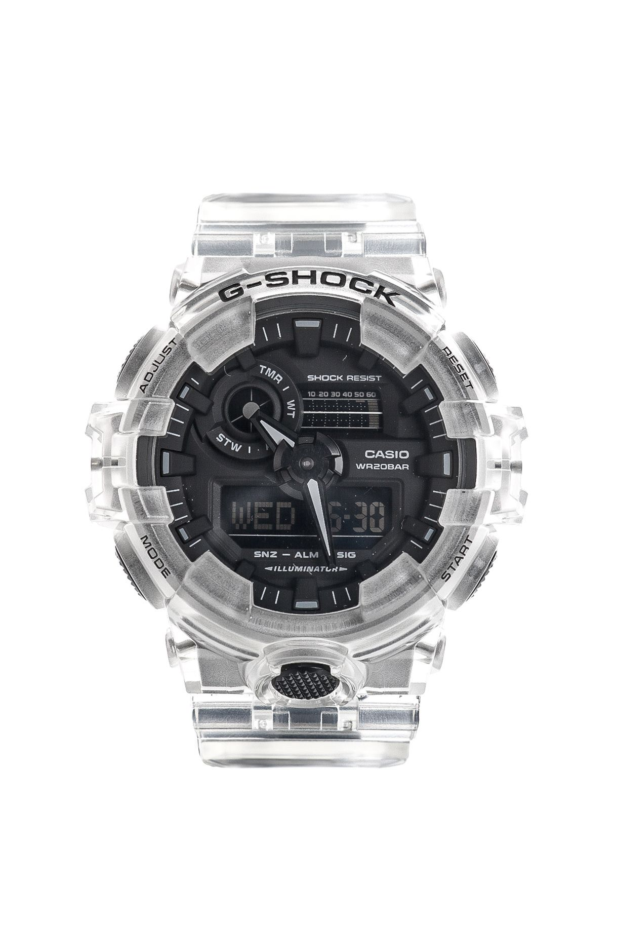 Afbeelding van Casio Horloge G-SHOCK GA-700SKE Transparant White