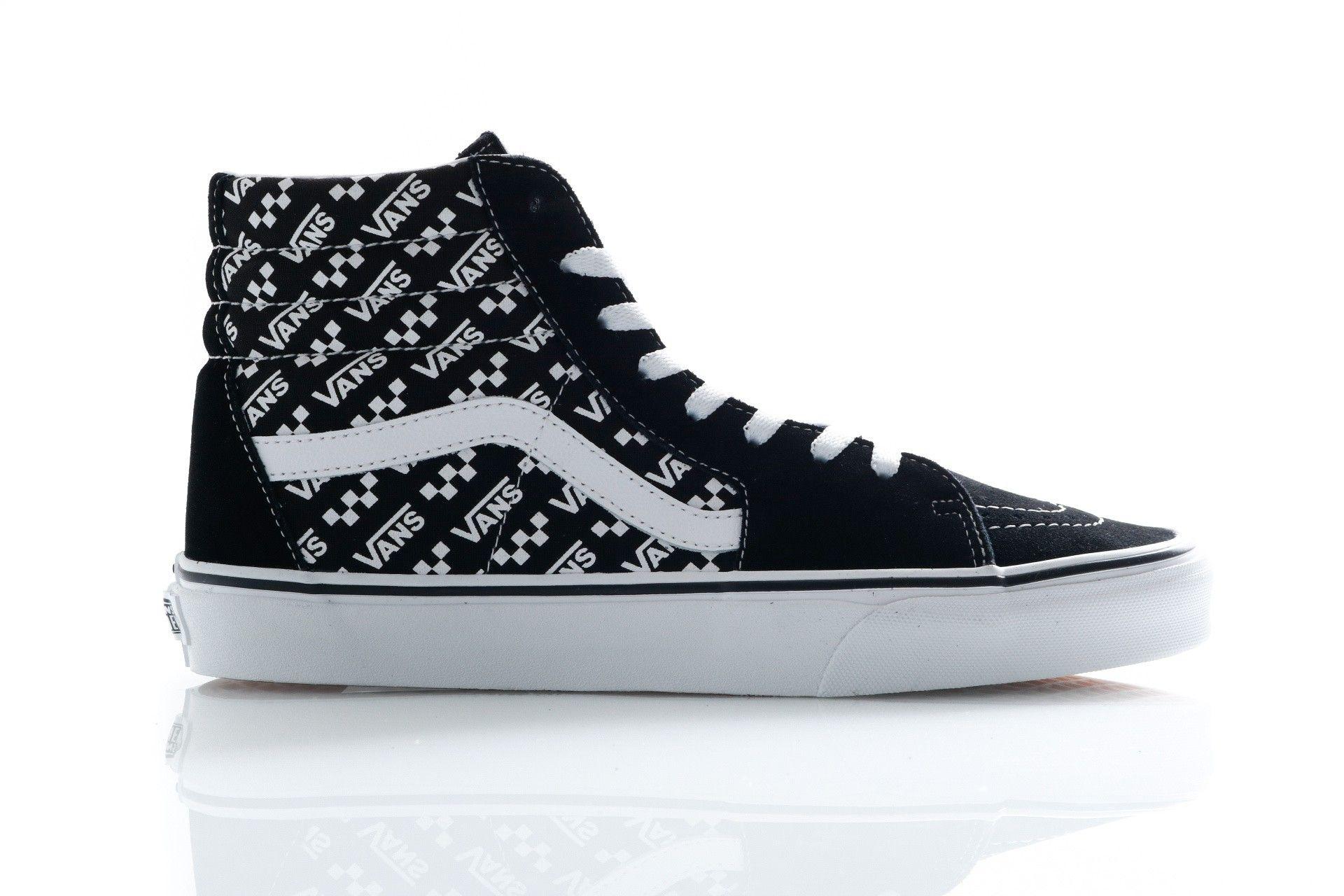 Afbeelding van Vans Sneakers Ua Sk8-Hi (Logo Repeat) Blk/True Wht VN0A4U3CTEZ1