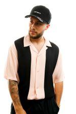 Carhartt Overhemd S/S Lane Shirt Powdery / Black I027508