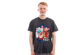 Foto van Tommy Jeans T-shirt TJU X REN AND STIMPY Blackout DM0DM12196
