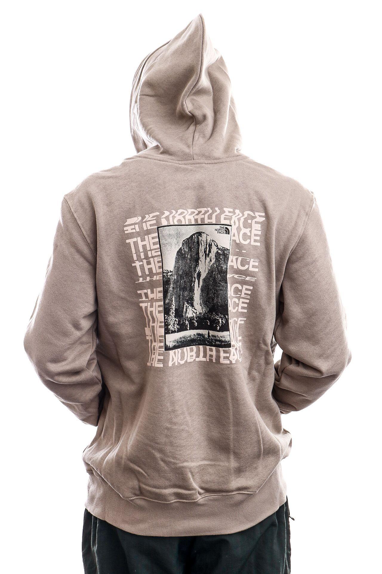 Afbeelding van The North Face Hoodie Mens Warped Type Graphic Hoodie Mineral Grey NF0A55U6VQ81