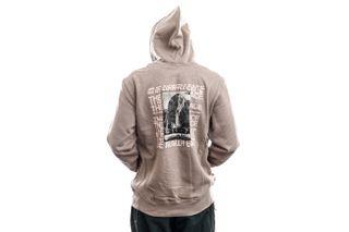 Foto van The North Face Hoodie Mens Warped Type Graphic Hoodie Mineral Grey NF0A55U6VQ81