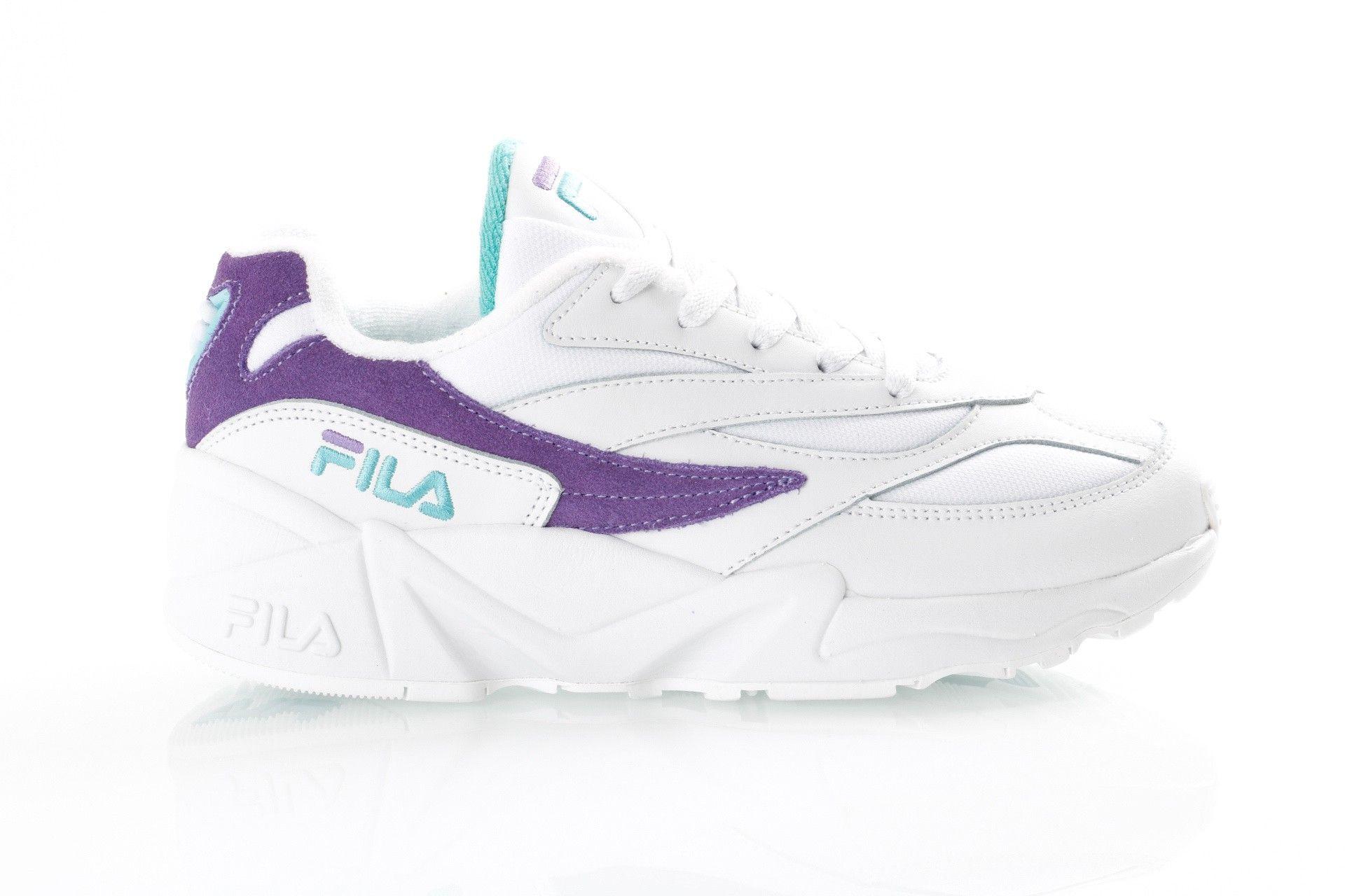 Afbeelding van Fila V94M Low Wmn 1010602 Sneakers White/Violet Tulip / Blue Curacao