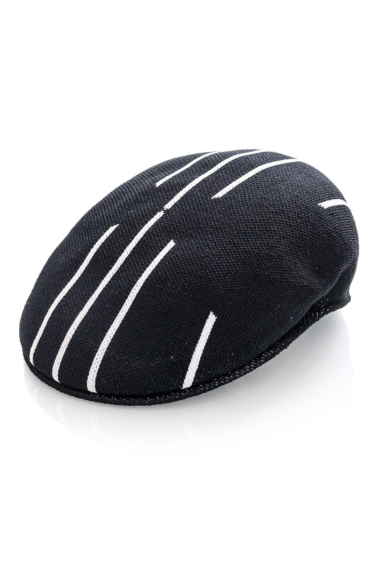 Afbeelding van Kangol Flat Cap Stripe X-Top 504 Black/White K4392