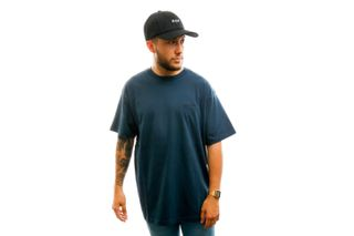 Foto van Carhartt T-shirt S/S Script Embroidery T-Shirt Admiral / Black I025778