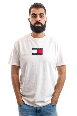 Afbeelding van Tommy Hilfiger T-shirt Tjm Small Flag Tee White DM0DM08351