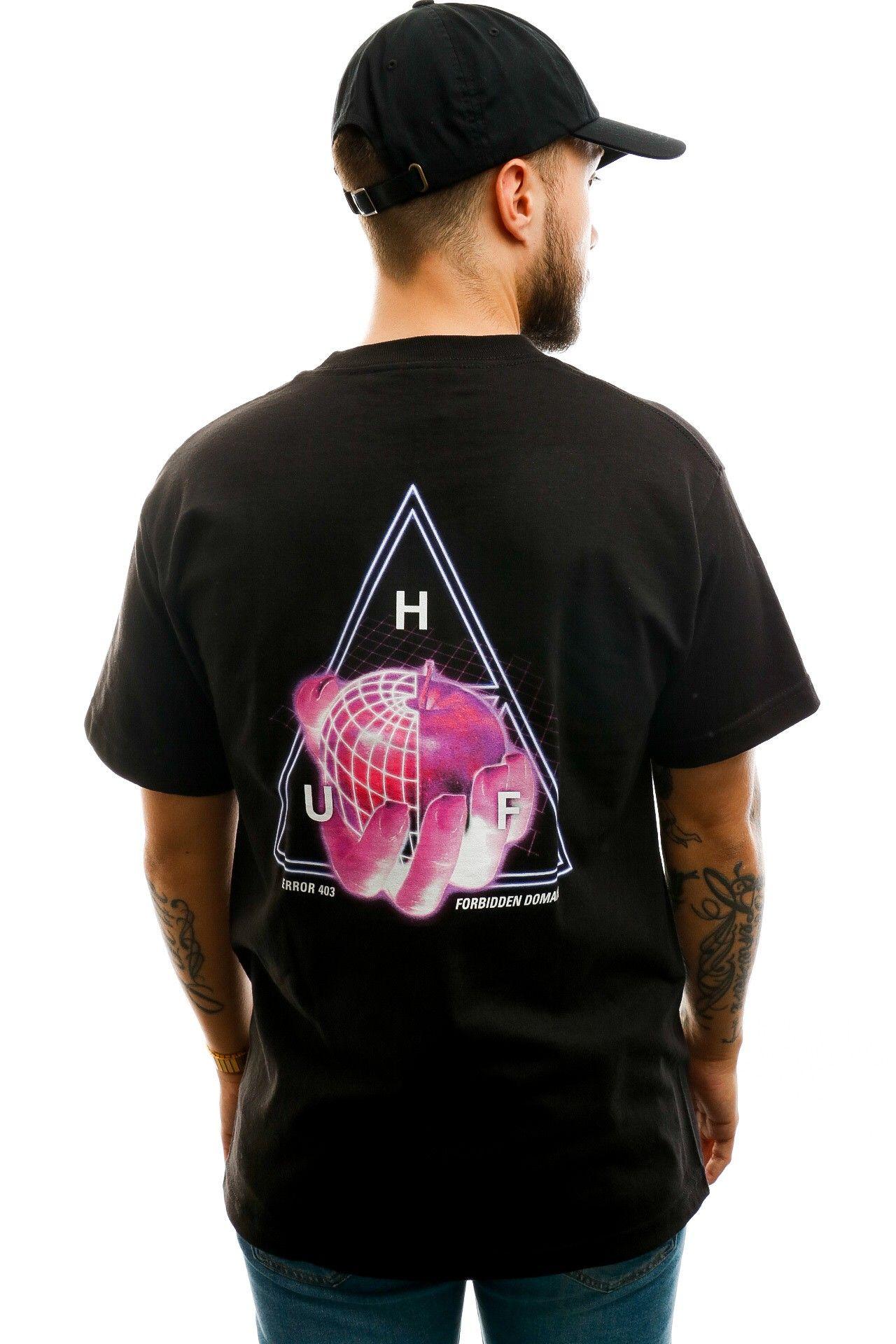 Afbeelding van HUF T-shirt Forbidden Domain S/S Tee Black TS01051-BLACK