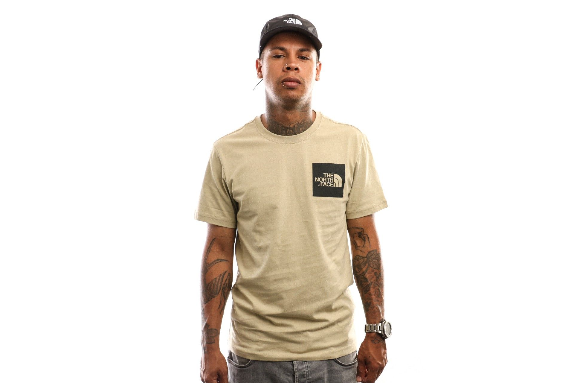 Afbeelding van The North Face S/S Fine Tee T0Ceq5Zdl T Shirt Twill Beige